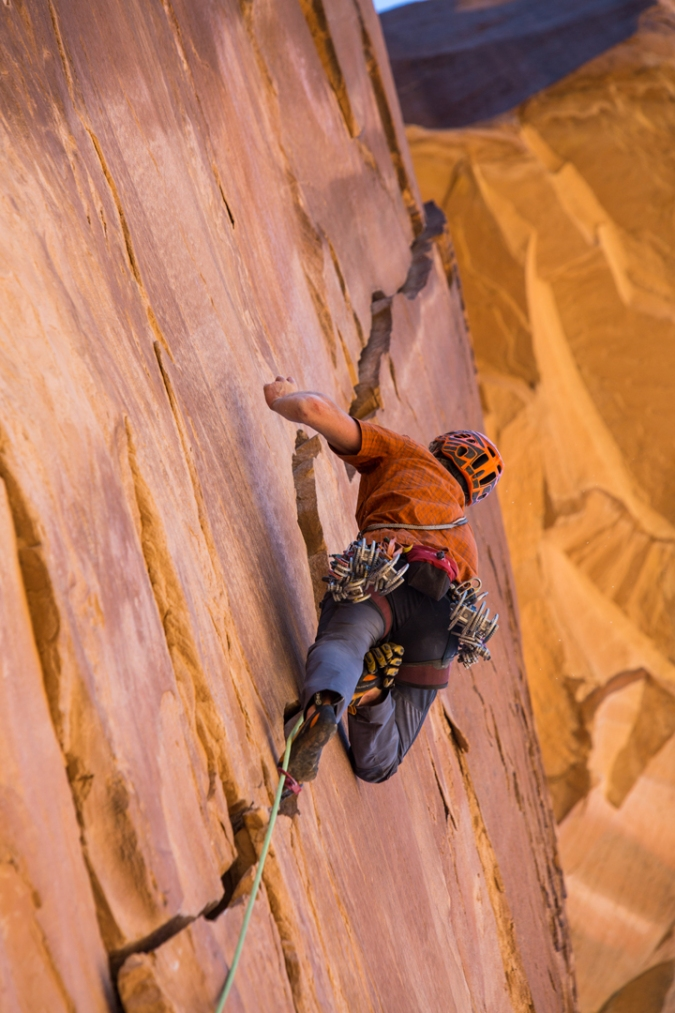 Rob Pizem, Menitove-Meese 5.11, Mee Canyon, CO